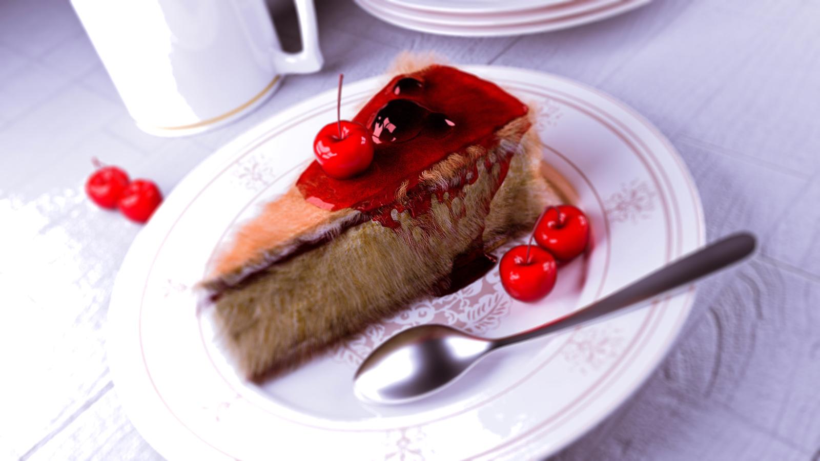 长毛了的蛋糕