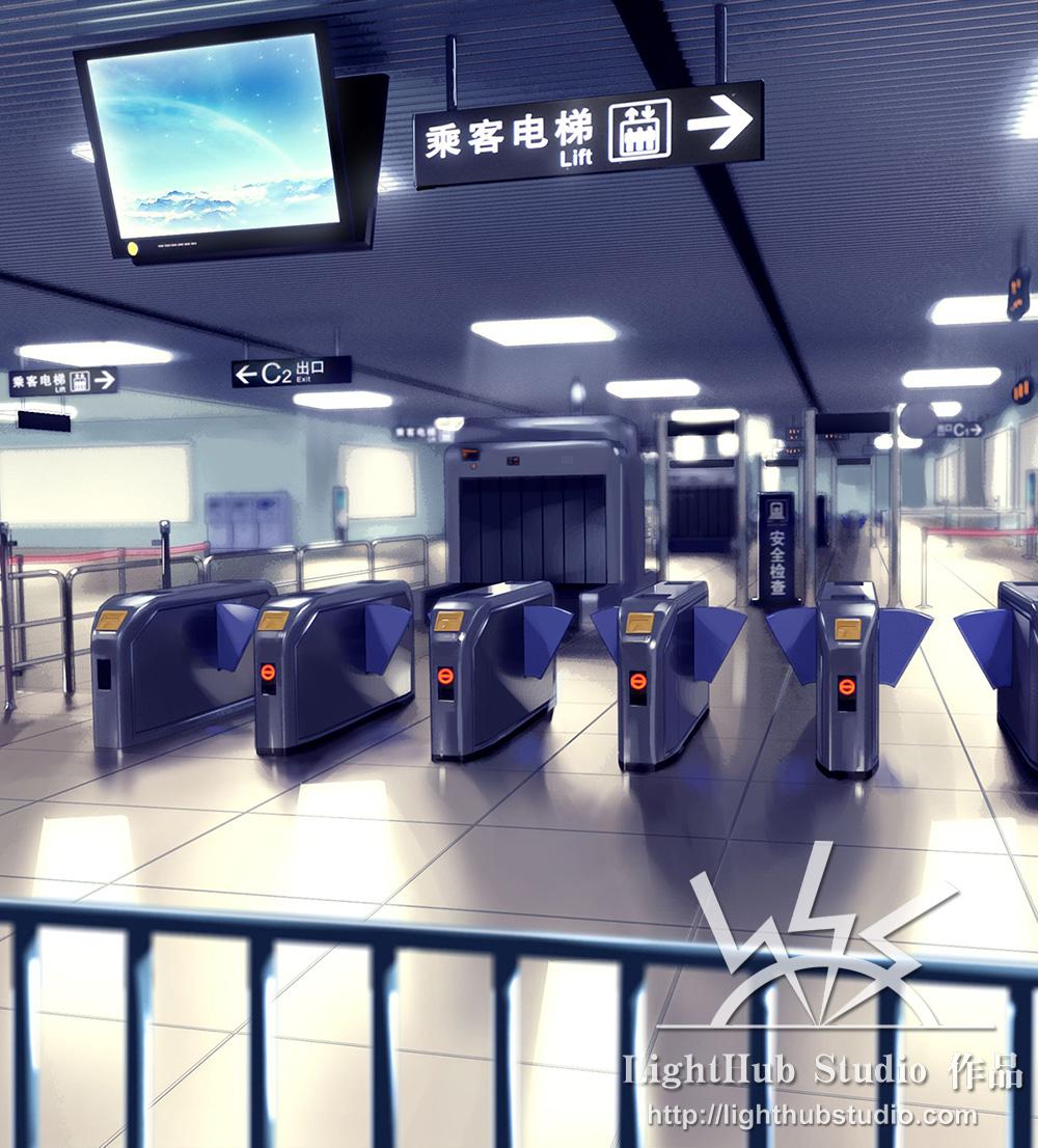 地铁检票口